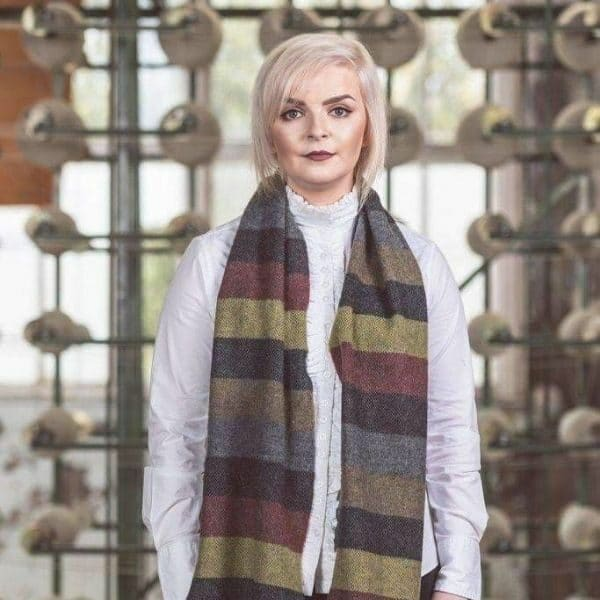 Fall Thick Stripe Scarf