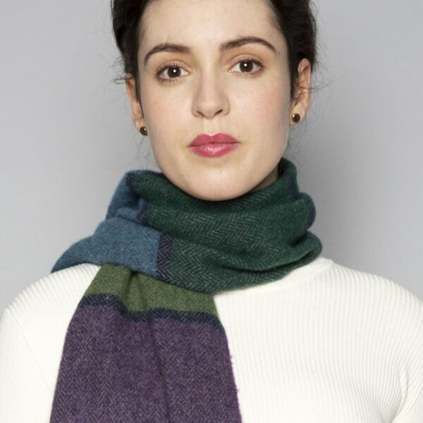 Oxford, Bottle, Purple & Leaf Scully Lambswool Scarf
