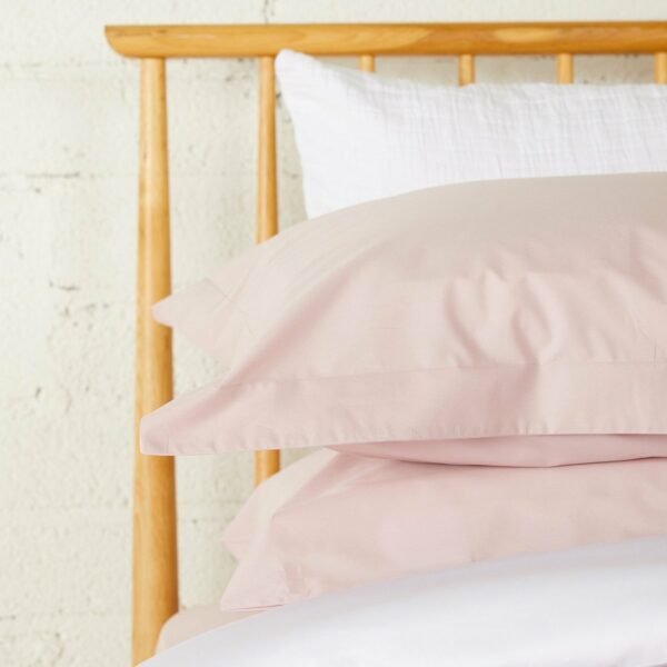 Pink Percale Housewife Pillowcase