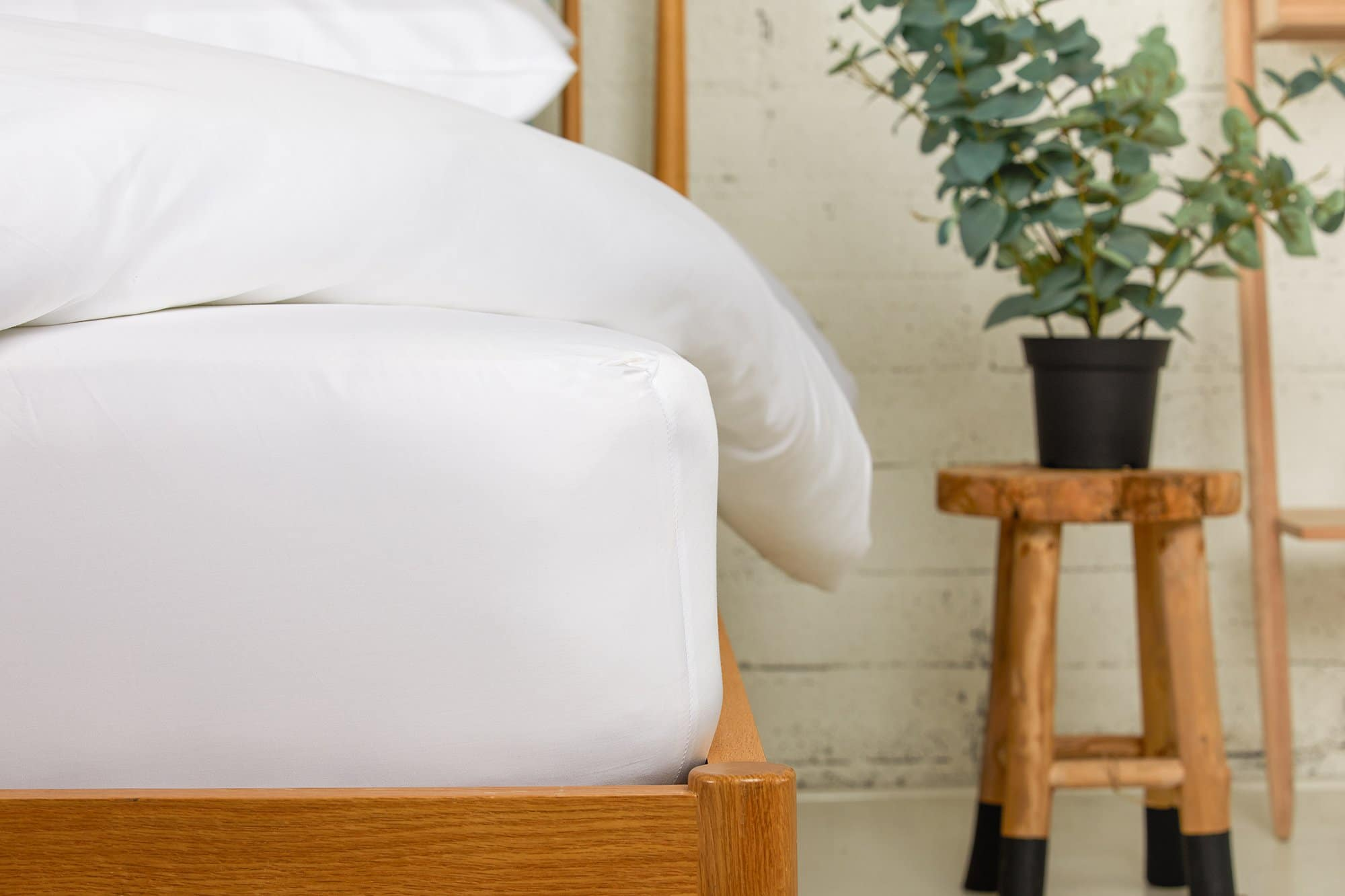 Sateen White Fitted Sheet