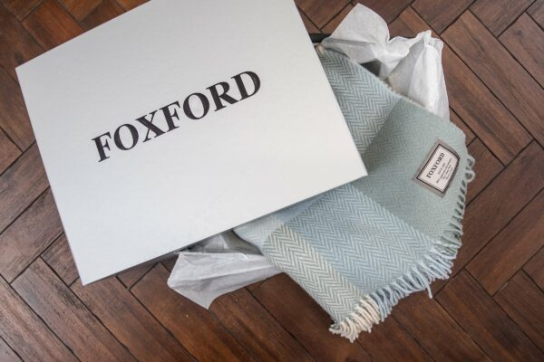 Classic Foxford Checked Throw