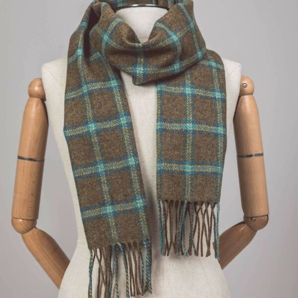 Fawn Check Scarf