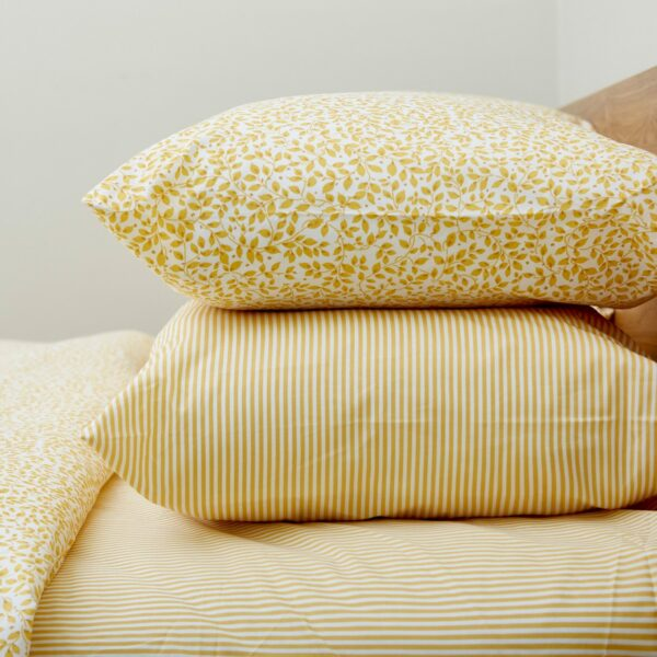 Yellow Leaf Housewife Pillowcase – Pair