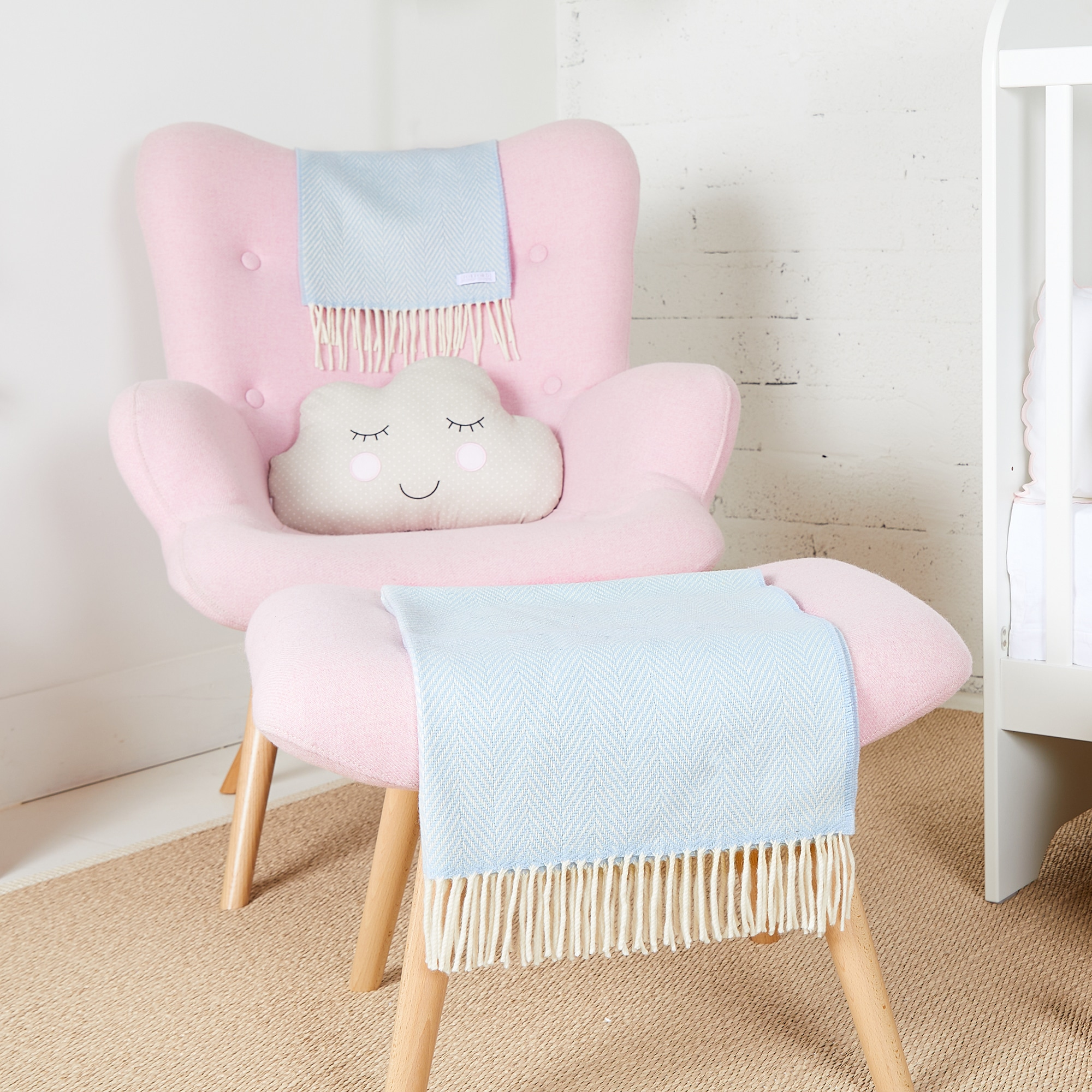 Perma Blue Cashmere Baby Blanket
