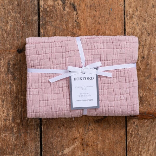 Pink Waffle Cushion Cover 65×65